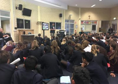 Speaking at Perth high school